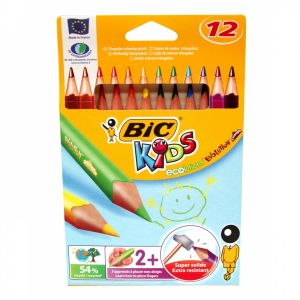 Цветни моливи BIC JUMBO ECOLUTIONS - 12 цв, триъгълни