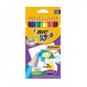 Цветни моливи BIC KIDS AQUA - 12 цв