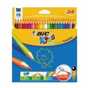Цветни моливи BIC KIDS ECOLUTION - 24 цв, гъвкави