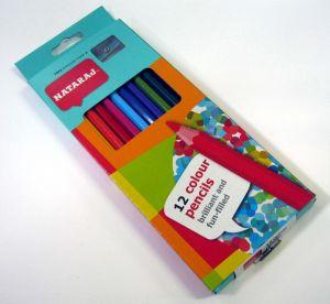 Цветни моливи NATARAJ - 12 цв. ДЪЛГИ