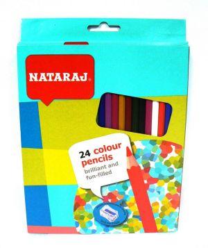 Цветни моливи NATARAJ - 24 цв. ДЪЛГИ