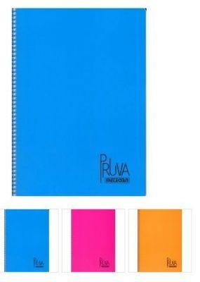 Тетрадка Pruva А4 ред,120л. 4цв.- спирала