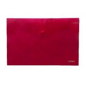 NOKI Папка с копче А4 - червена