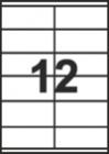 САМОЗАЛЕПВАЩИ ЕТИКЕТИ А4 - 22026 - 12л. /100л. в пакет/