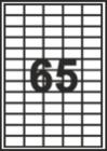 САМОЗАЛЕПВАЩИ ЕТИКЕТИ А4 - 22001 - 65л. /100л. в пакет/